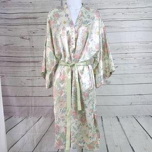 Victoria's Secret vintage green floral belted robe